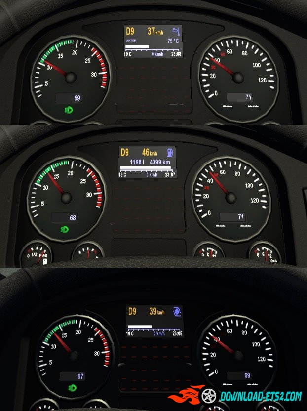 MAN TGX Dashboard v2 (Black)