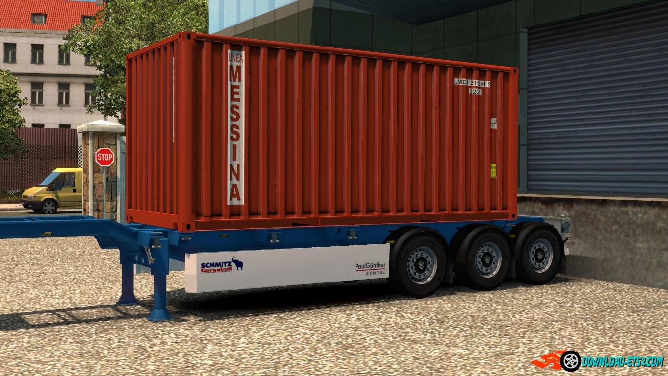 4 Trailer Container 20 Ft Skins Real V1 187 Ets2 Mods Scs