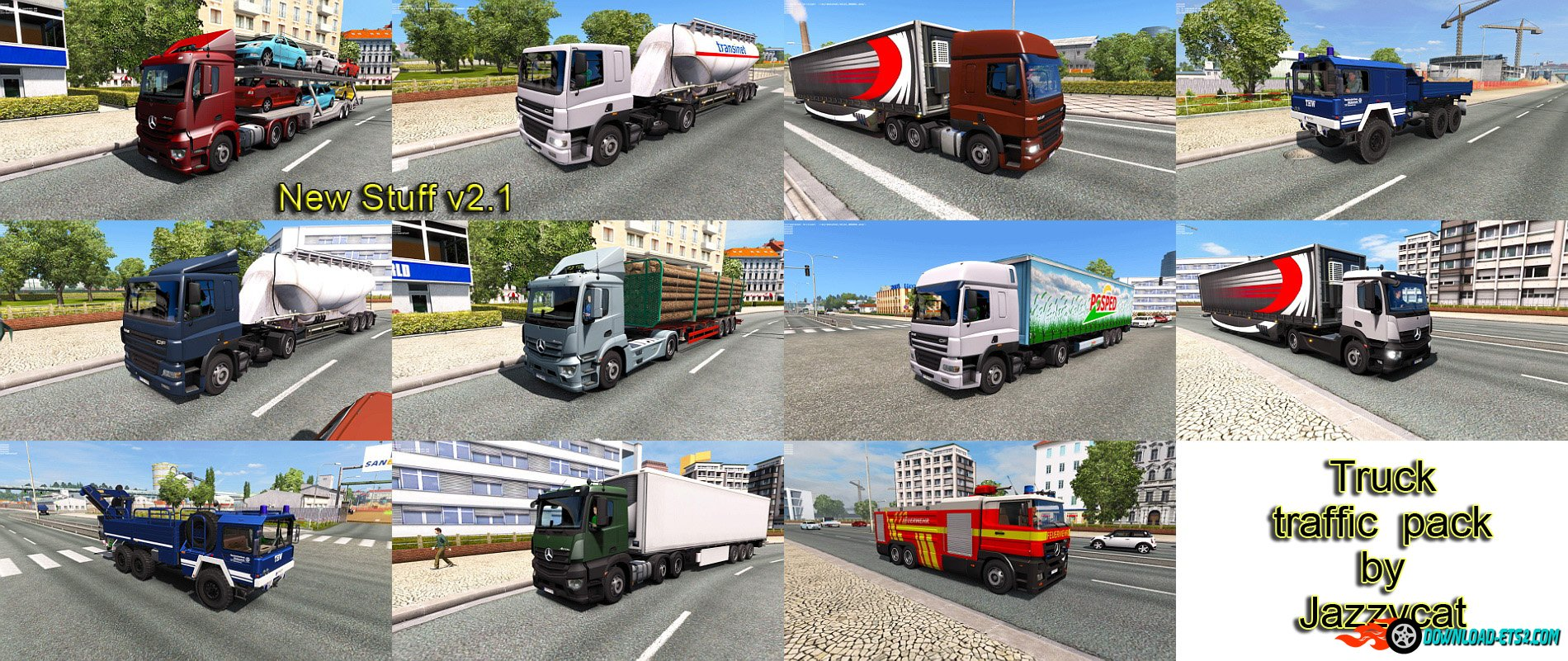 Truck traffic pack v2.1 by Jazzycat
