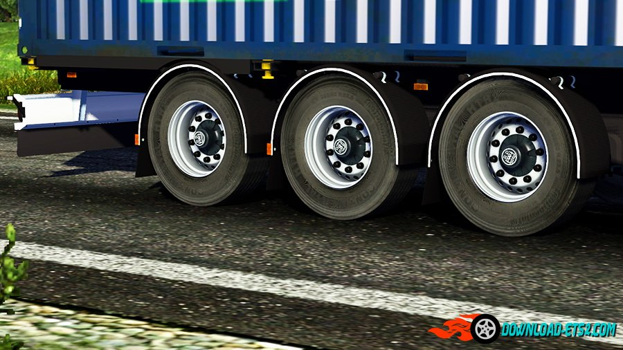 Trailer Axles With Wheels : Wheels trailer axles sound download ets
