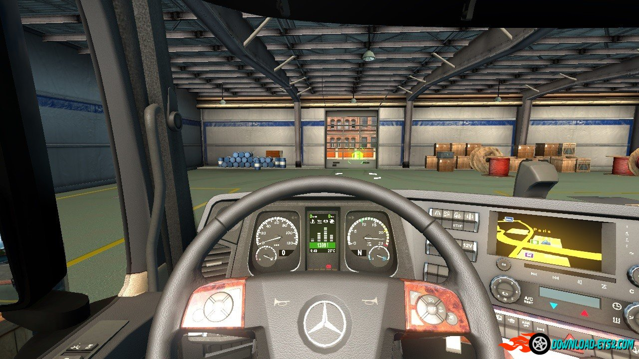 Mercedes Actros 2014 Dashboard v3.0