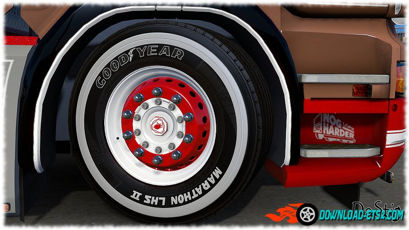 Painted GoodYear tires by DaStig