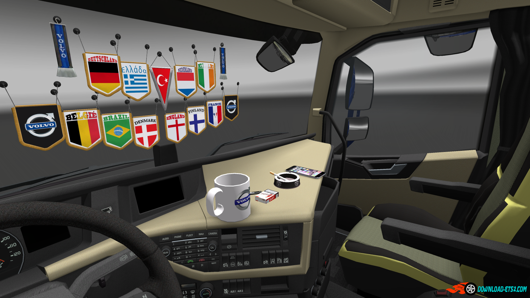 addons for dlc cabin v2 5 ets2 mods euro truck. Black Bedroom Furniture Sets. Home Design Ideas