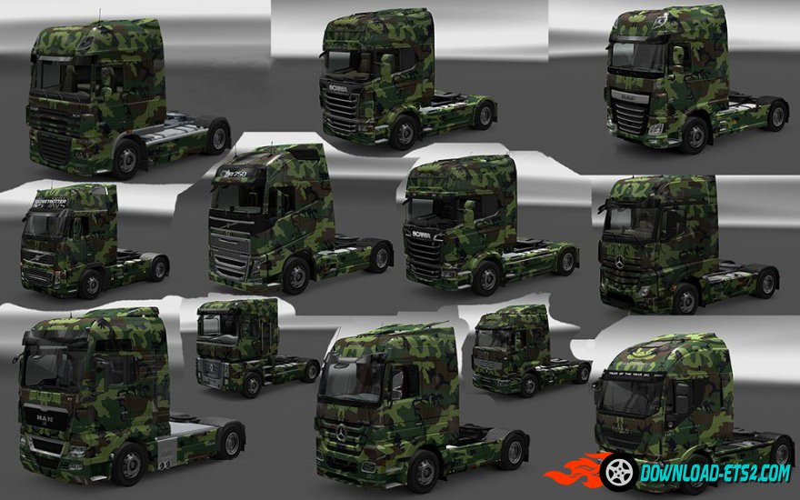 Army Camo Skin for All SCS Trucks