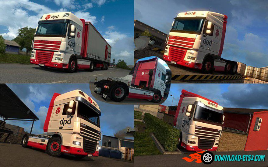 "Skin ""DPD"" for DAF XF trucks"