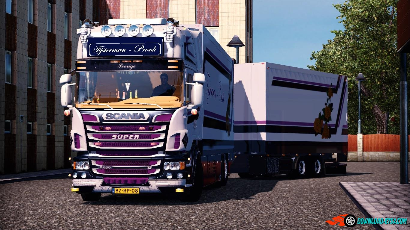 SCANIA R500 TIJSTERMAN + SOUNDS + TRAILER