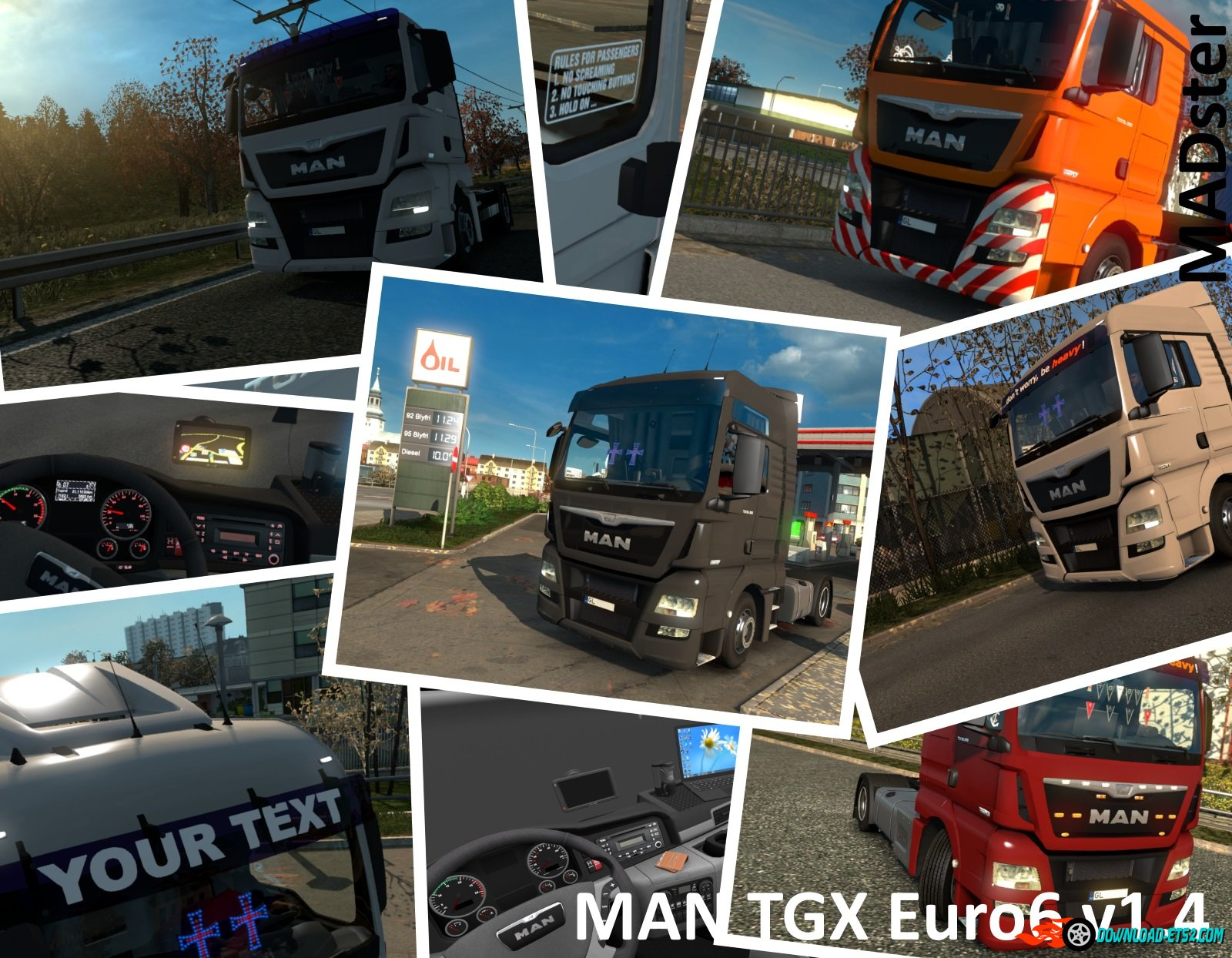 MAN TGX Euro6 v1.4 by MADster