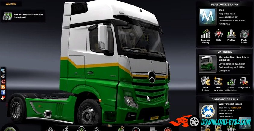 ETS2 profile download | Legit | 60% discovered | No Cheats | 1.21 Save Game