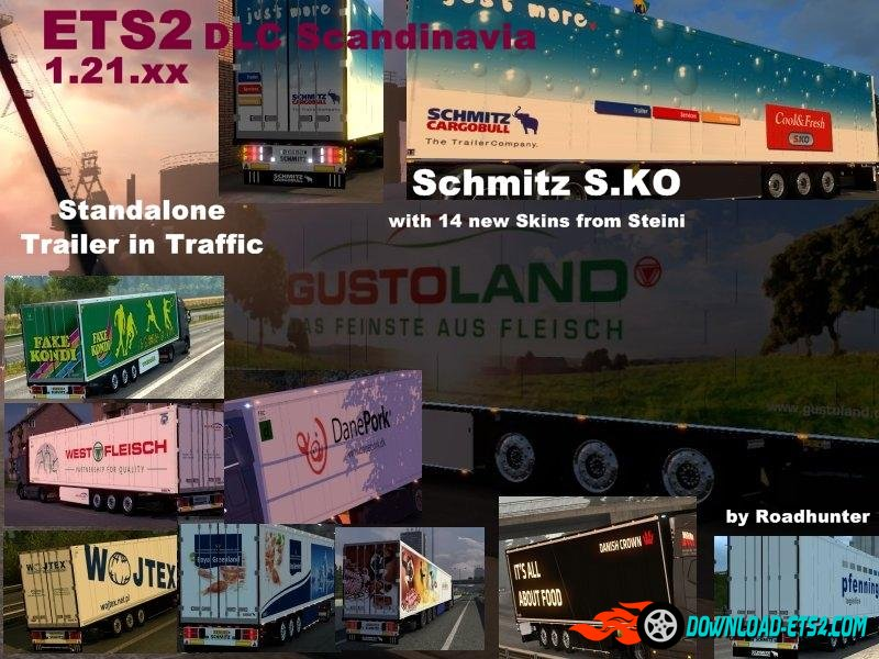 Trailer Schmitz S.KO Multimat + 14 skins