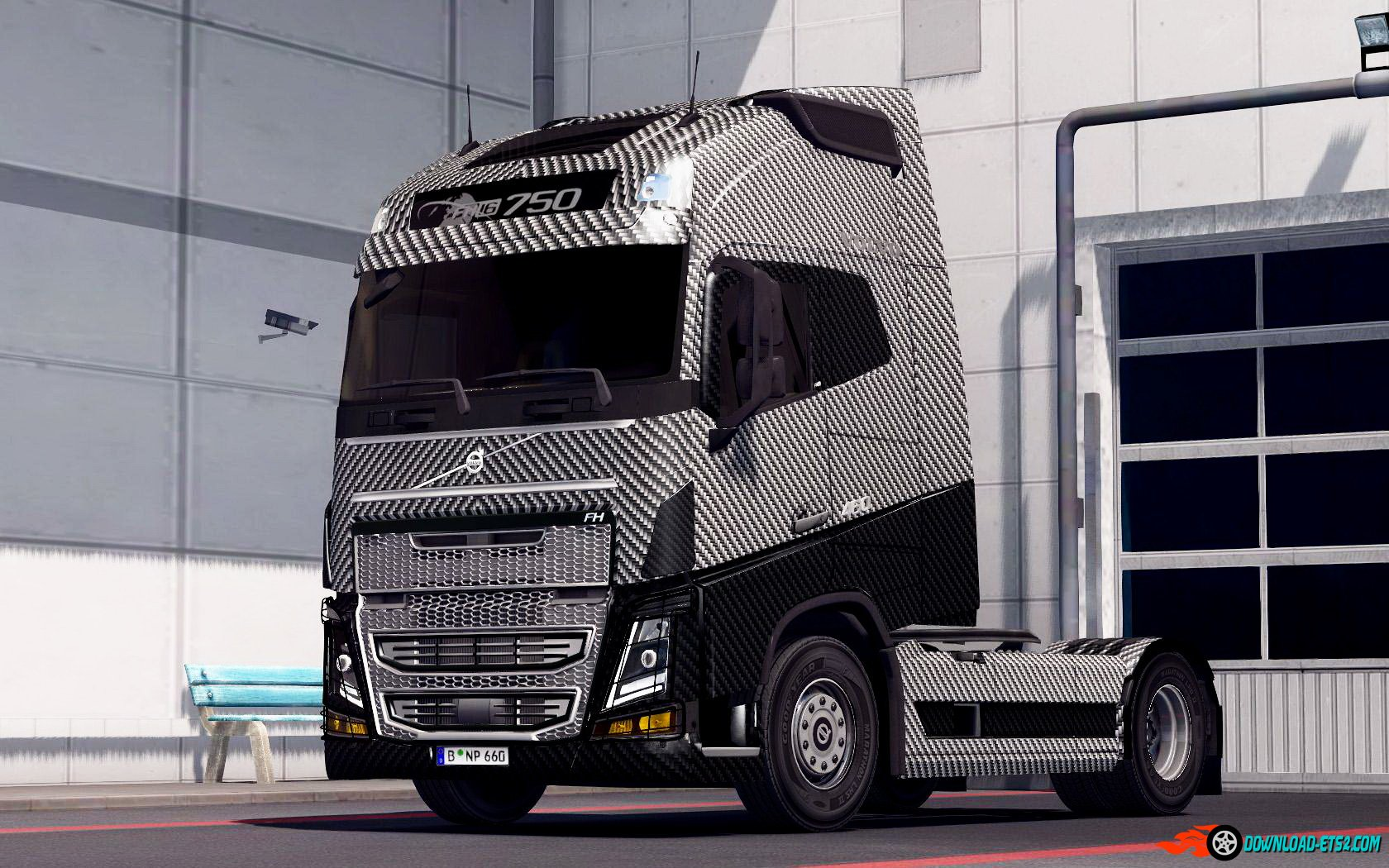 Carbon Fiber skin for Volvo FH 2012 and Ohaha's versions by Aradeth