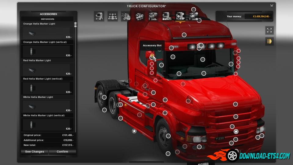 Rjl S Scania T Amp Scania R Accessories Remoled V8 R3 1