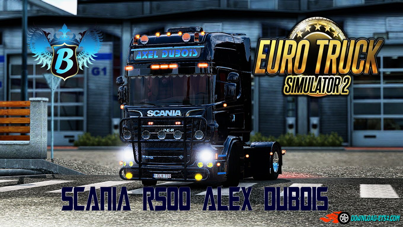 Scania R500 Alex Dubois + Interior v2.0 (1.22.x)