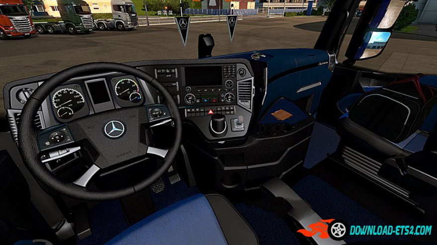 Mercedes Benz Actros Mp4 Blue&Black İnterior
