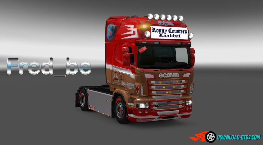 "Scania RJL ""Ronny Ceusters"" skin"