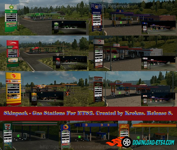 Skinpack Gas Stations for ETS2