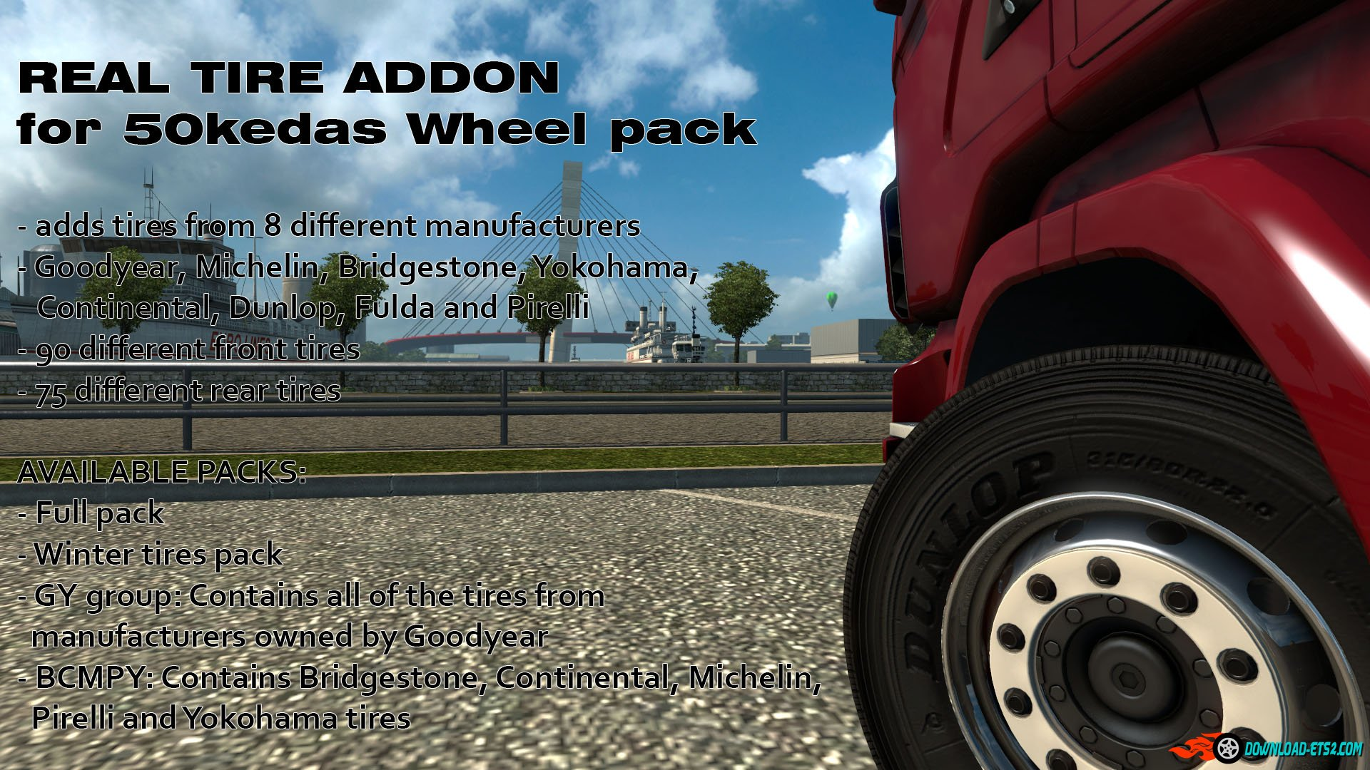 Real Tire addon for 50kedas Wheel pack v4.0