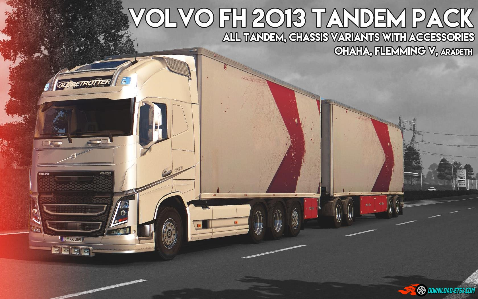 Volvo FH 2013 [ohaha] Tandem Pack + Accessories v1.1
