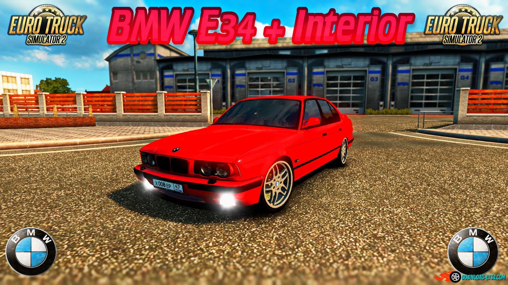 BMW E34 + Interior v1.0 by Vinzel