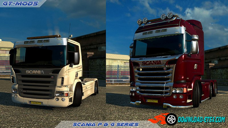 GTM P and G cabs for RJL's Scania R&S v2.5