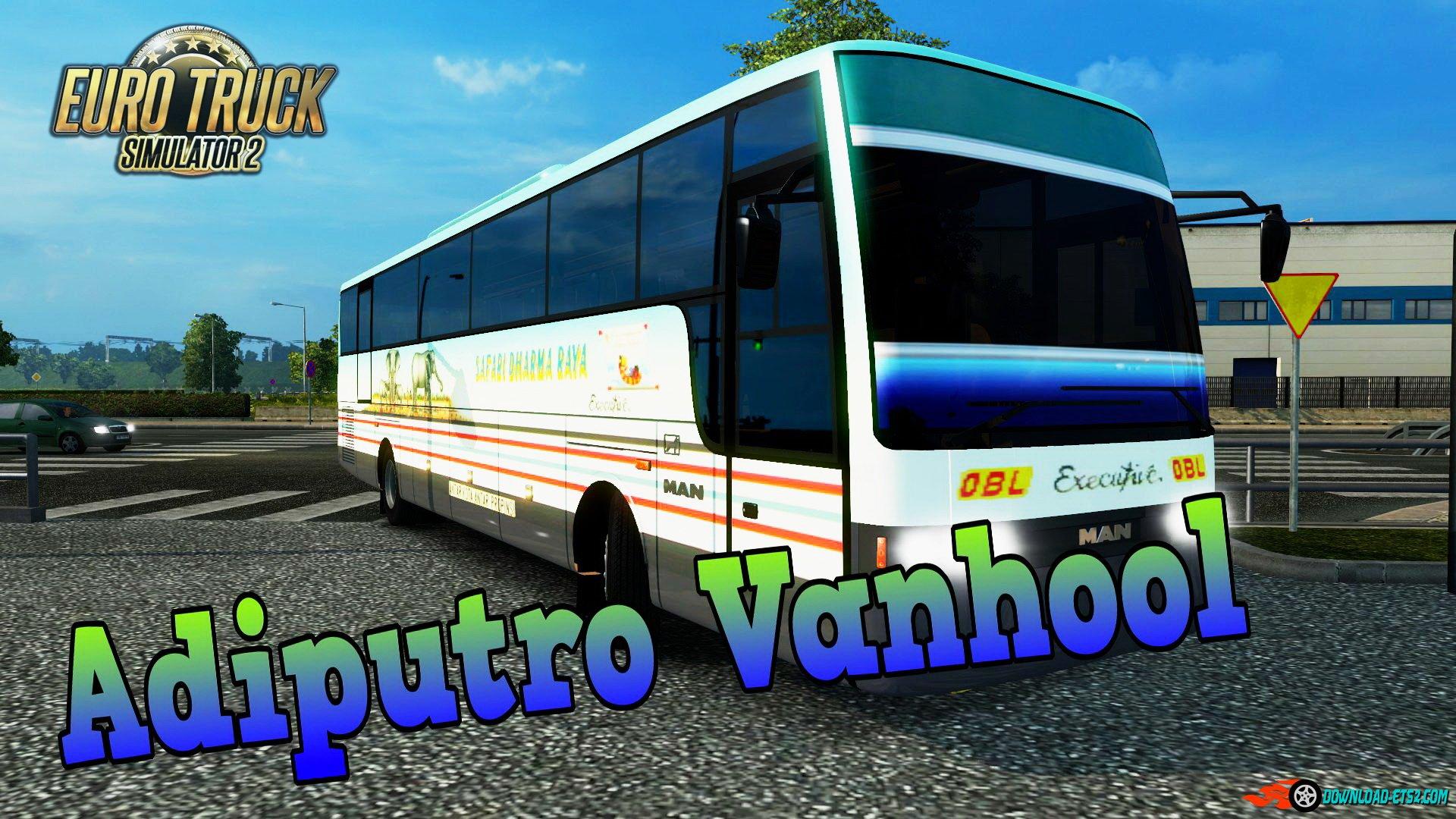 Adiputro Vanhool Bus v1 0 (1 22 x) » ETS2 mods, SCS mods