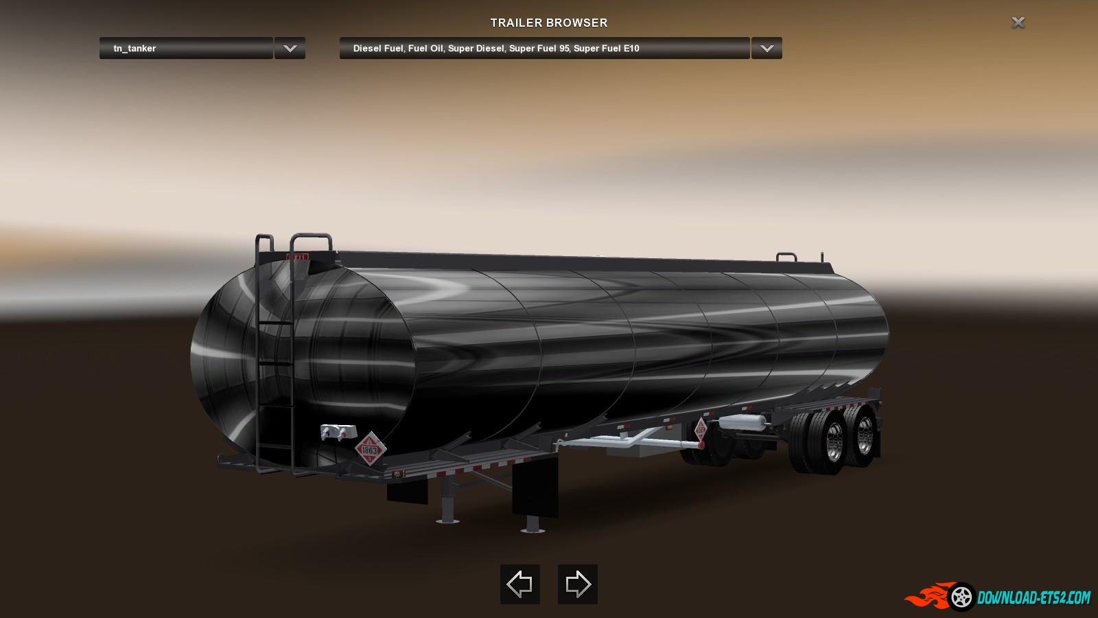 USA Chrome Tanker trailer