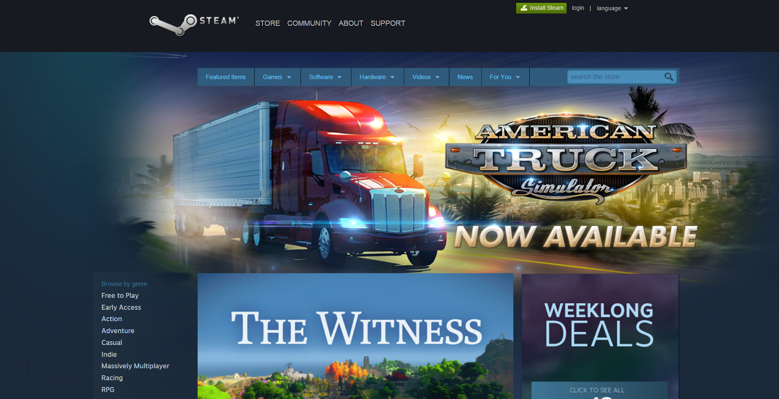 American Truck Simulator is released on Steam!
