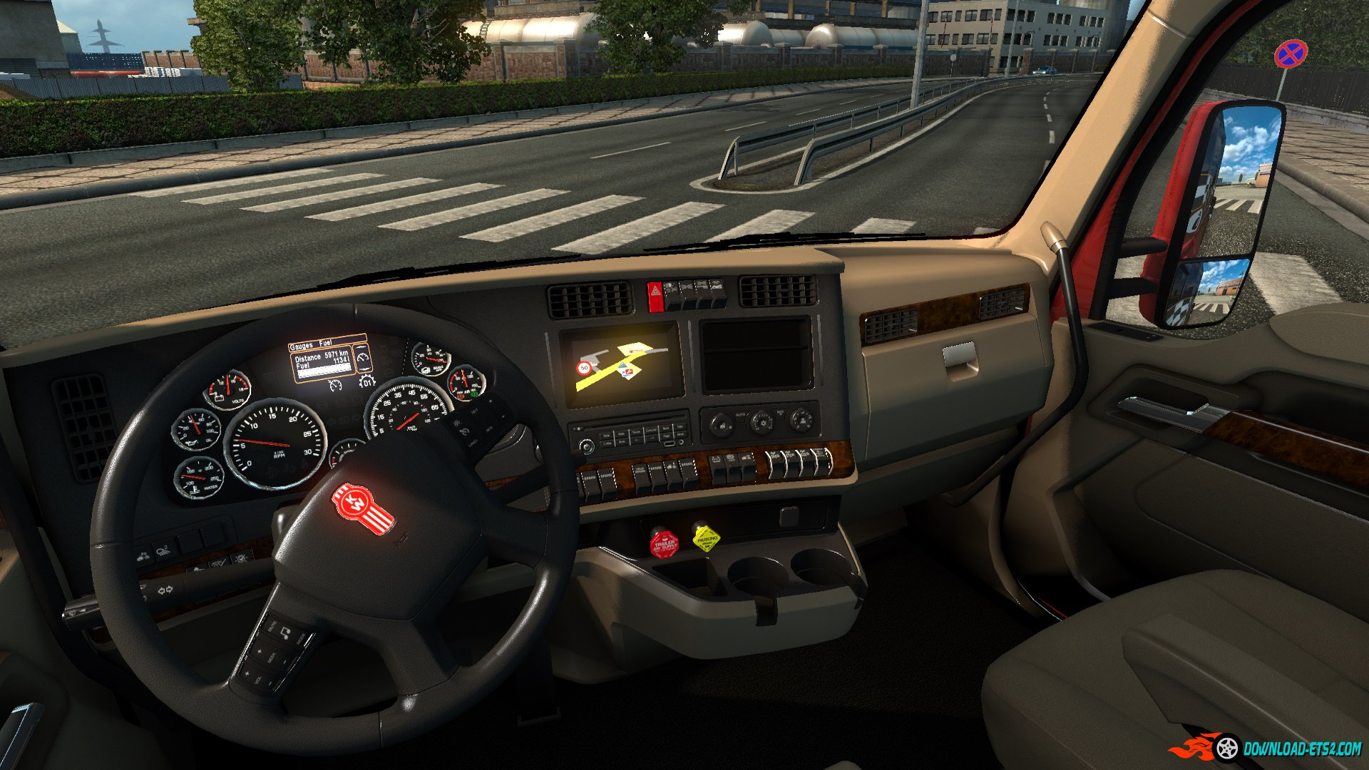 Kenworth T680 Interior V1 0 From Ats Download Ets 2 Mods Truck Mods Euro Truck
