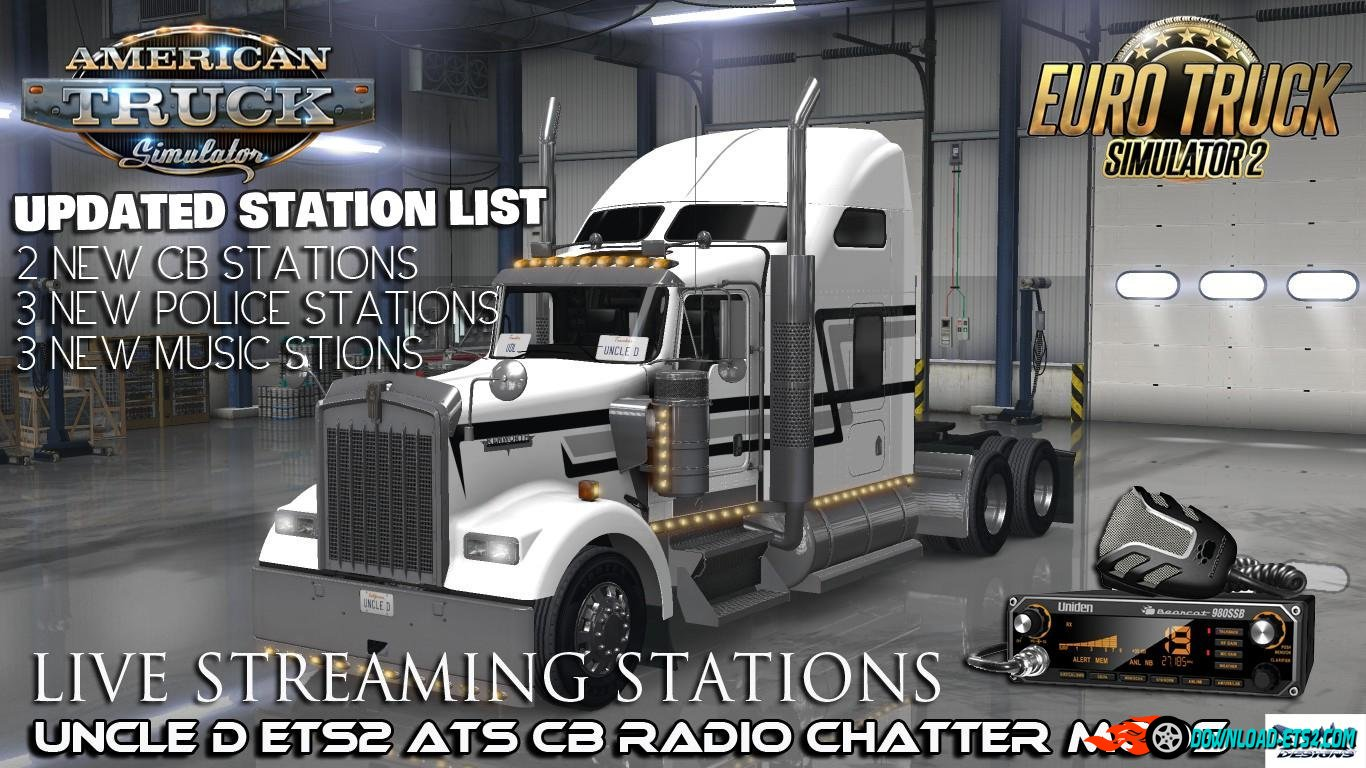 UNCLE D (ATS-ETS2) CB RADIO CHATTER LIVE STREAM STATIONS v1.01