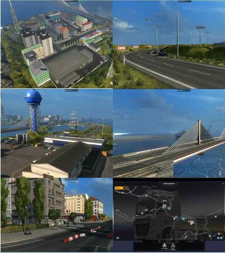 Bridge from Calais to Dover and City on Island v 6.5