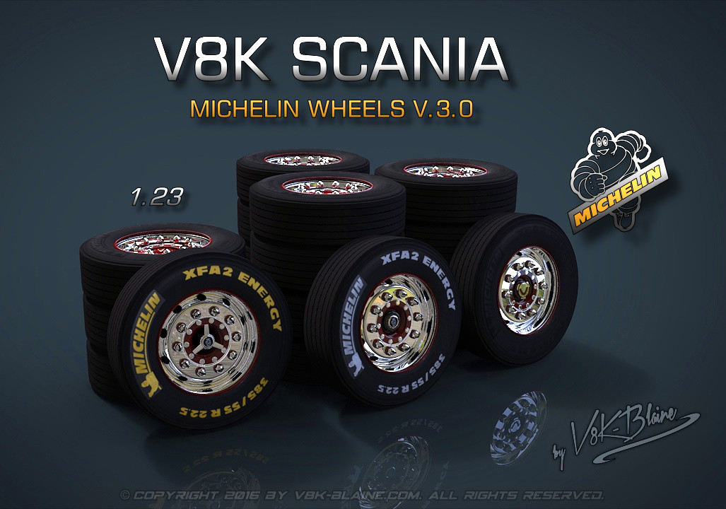 V8K Scania Michelin Wheels v3.0 [1.23.x]
