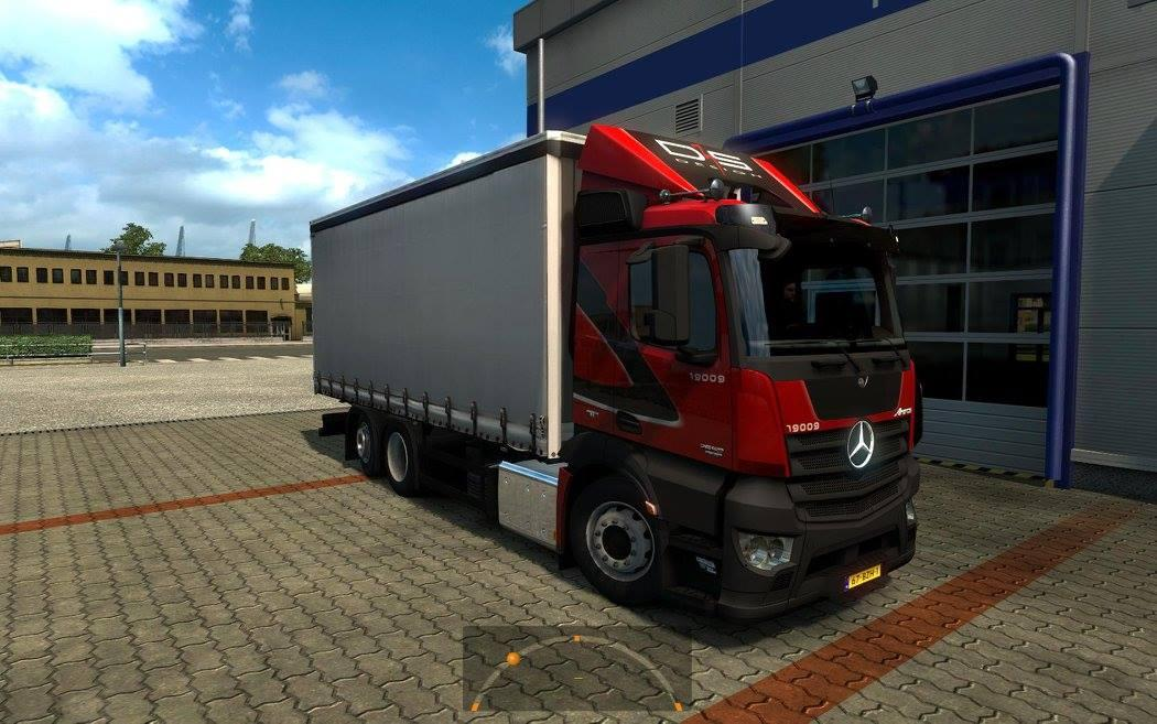 Mercedes-Benz Antos '12 - 1.1.0.123. (Upgrading freight + extra)