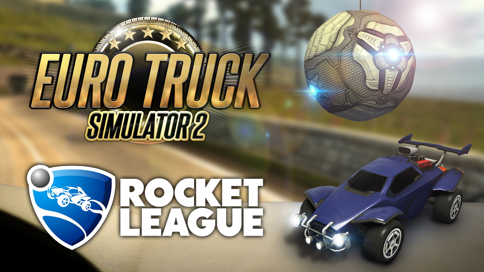 A touch of Rocket League in Euro Truck Simulator 2