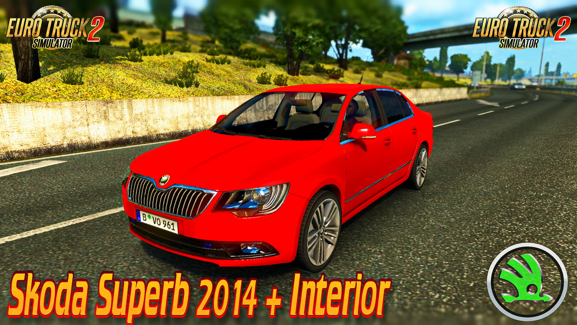 Skoda Superb 2014 + Interior for ETS 2 (Euro Truck Simulator 2)