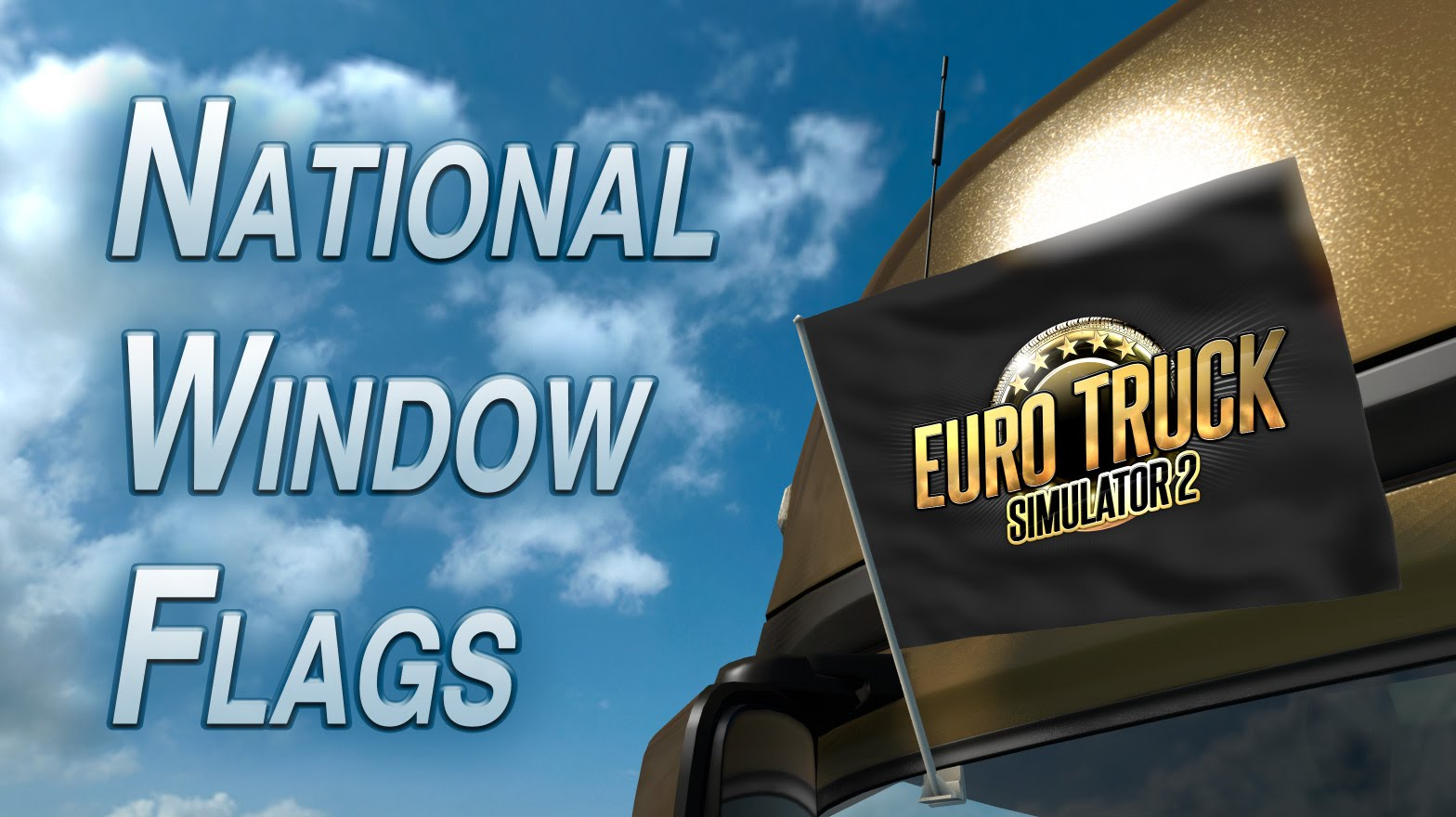 National Window Flags DLC for Euro Truck Simulator 2