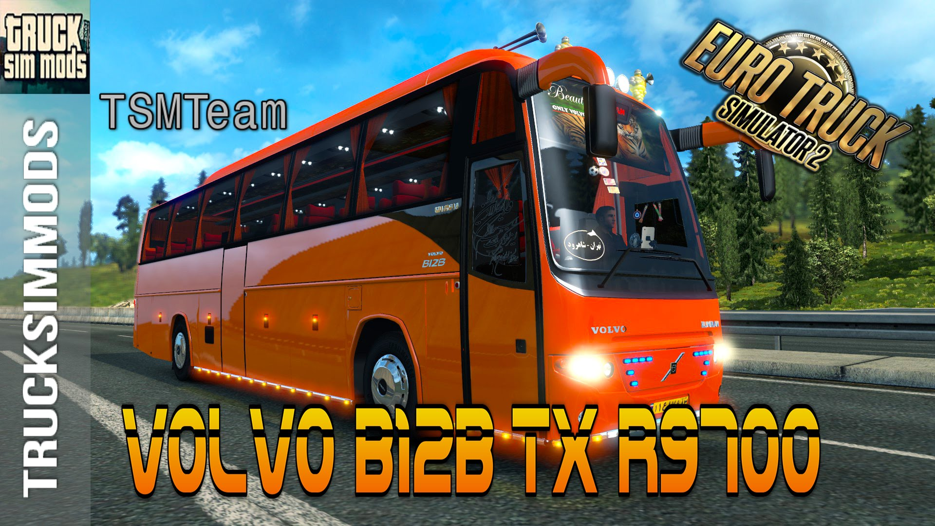 bus volvo b12b tx r9700 passenger mod v1 0 ets2 mods. Black Bedroom Furniture Sets. Home Design Ideas