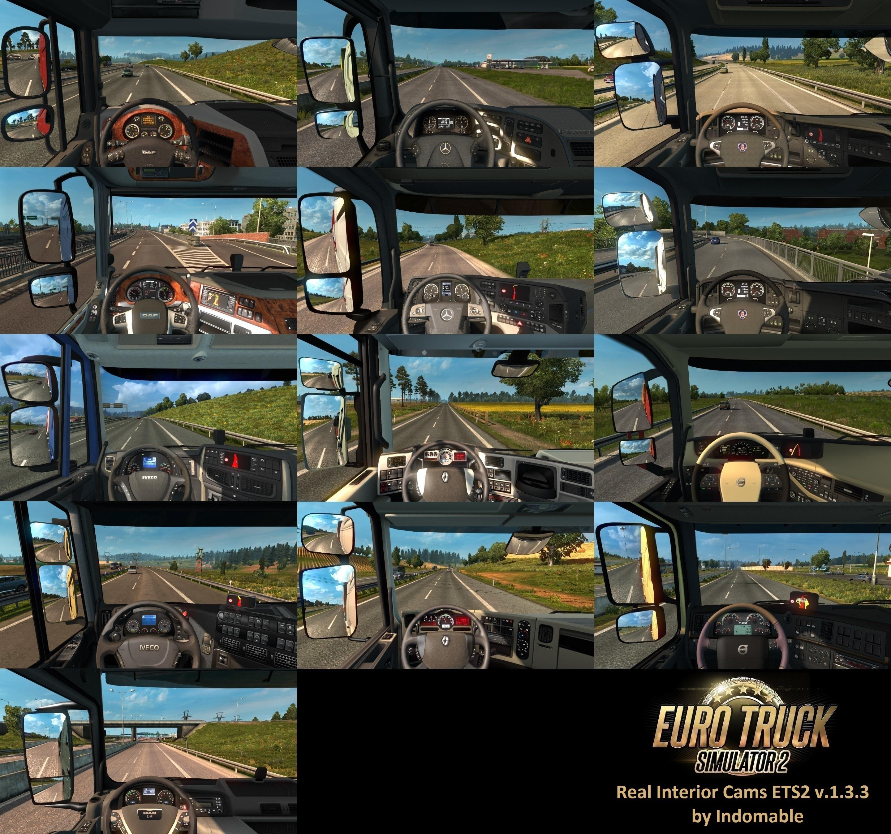 Real Interior Cams ETS2 v1.3.3 by Indomable