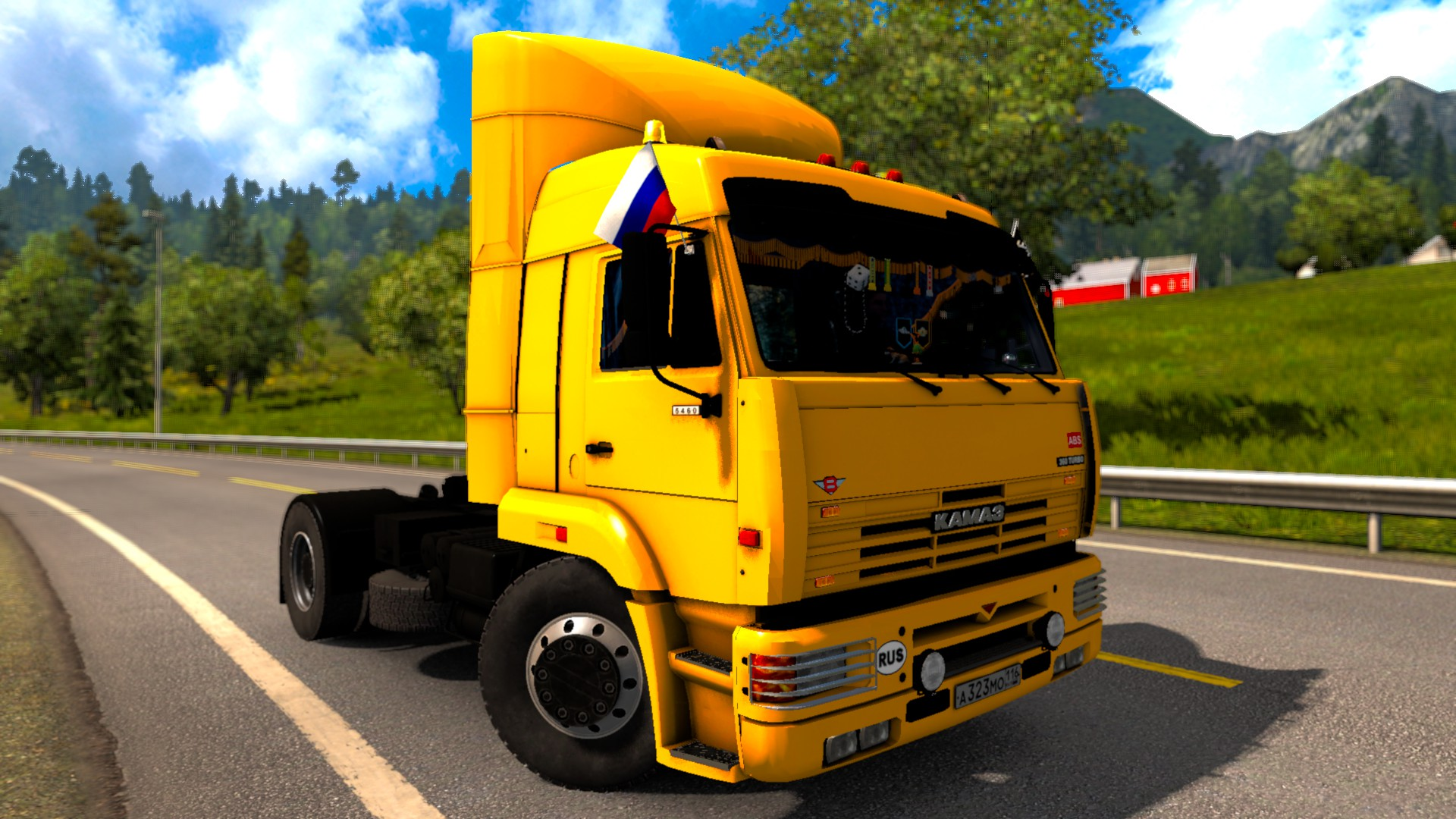 KamAZ 5460 + Interior + Cabin & Flags DLC v1.0