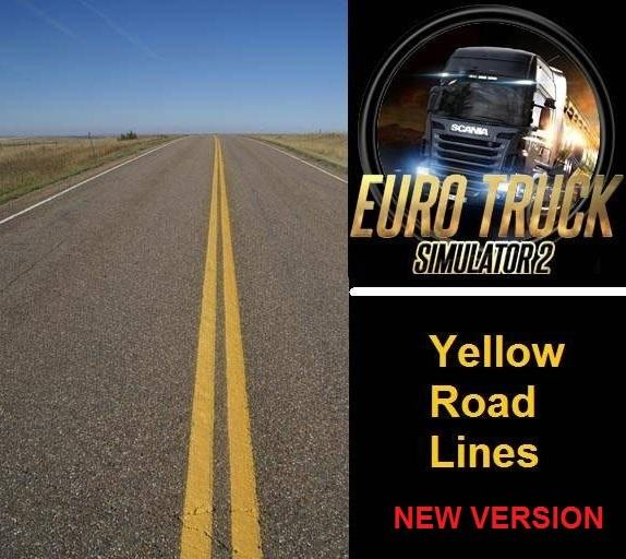Yellow Road Lines by Samo