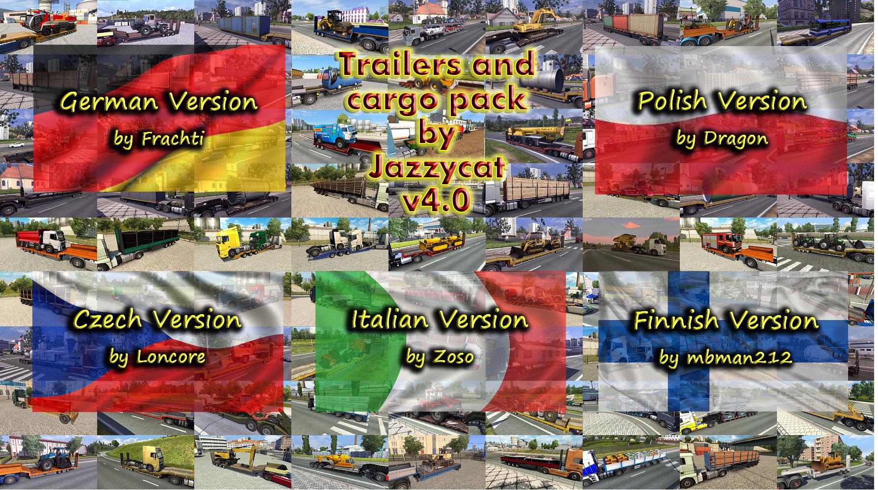 Language Pack for Trailers and Cargo Pack v4.0 by Jazzycat