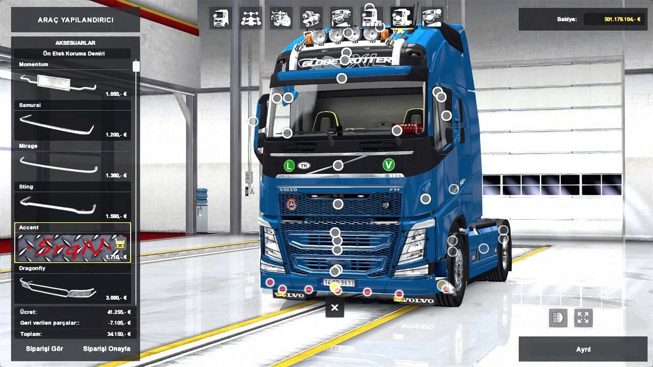 New Volvo FH16 Accessories + Interior v2 [1.24.x]