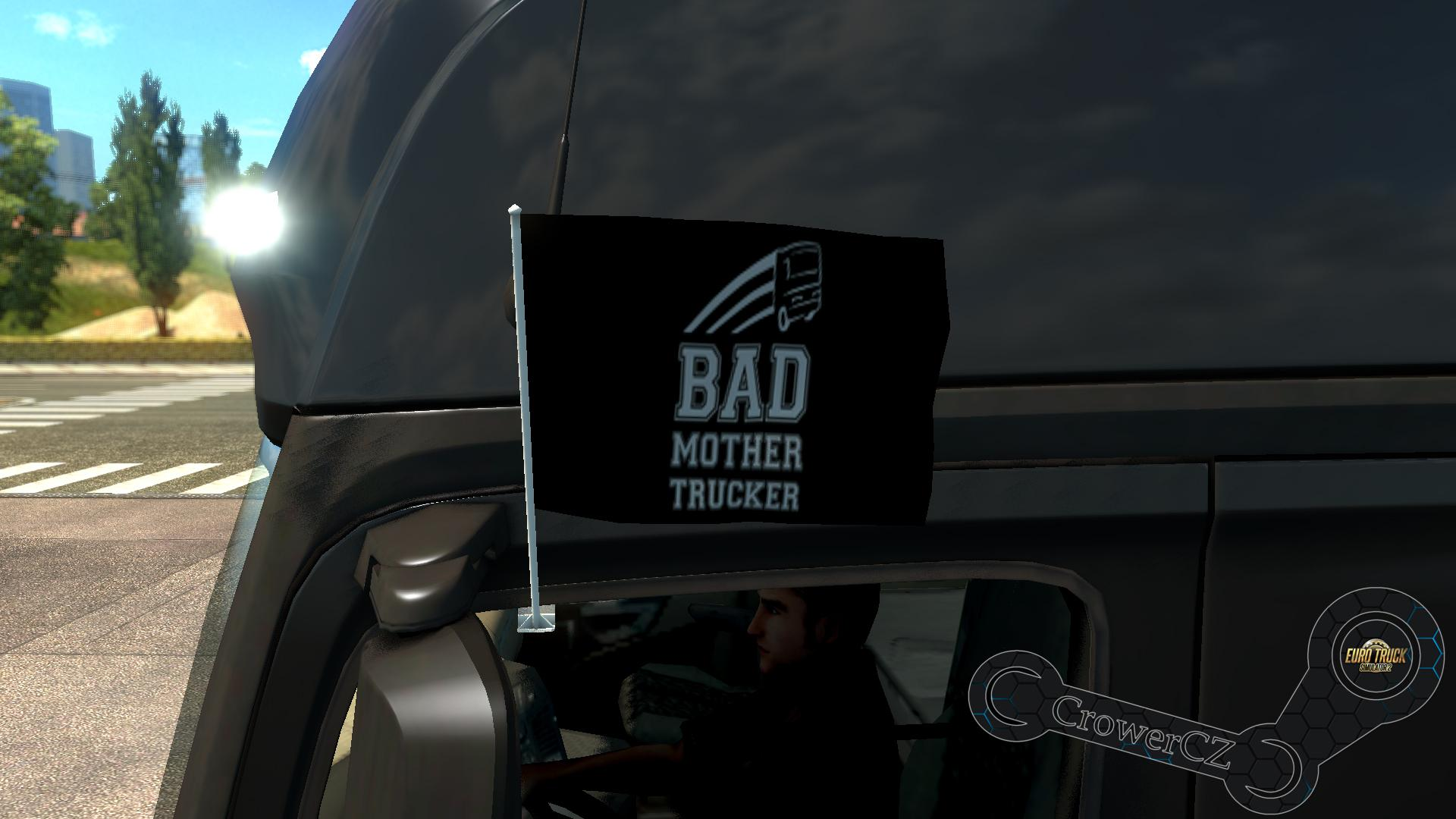 Bad Mother Trucker Flags by CrowerCZ