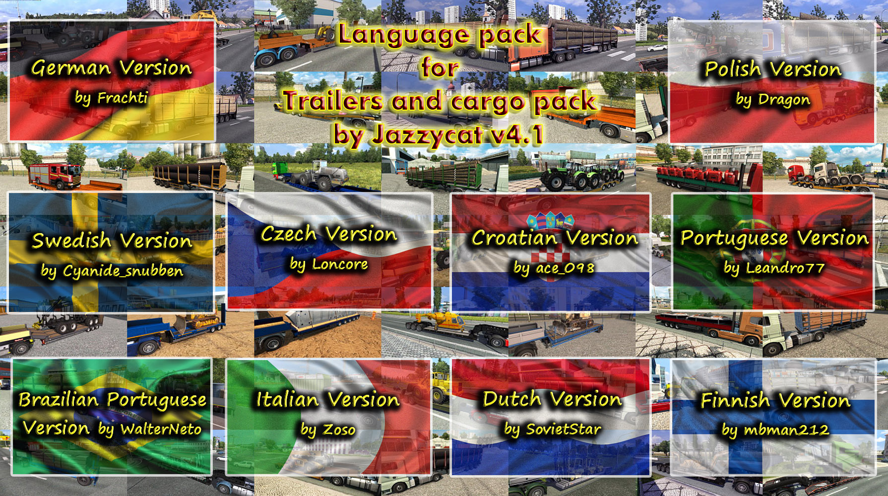 Fix and Language Pack (update) for Trailers and Cargo Pack by Jazzycat v 4.1