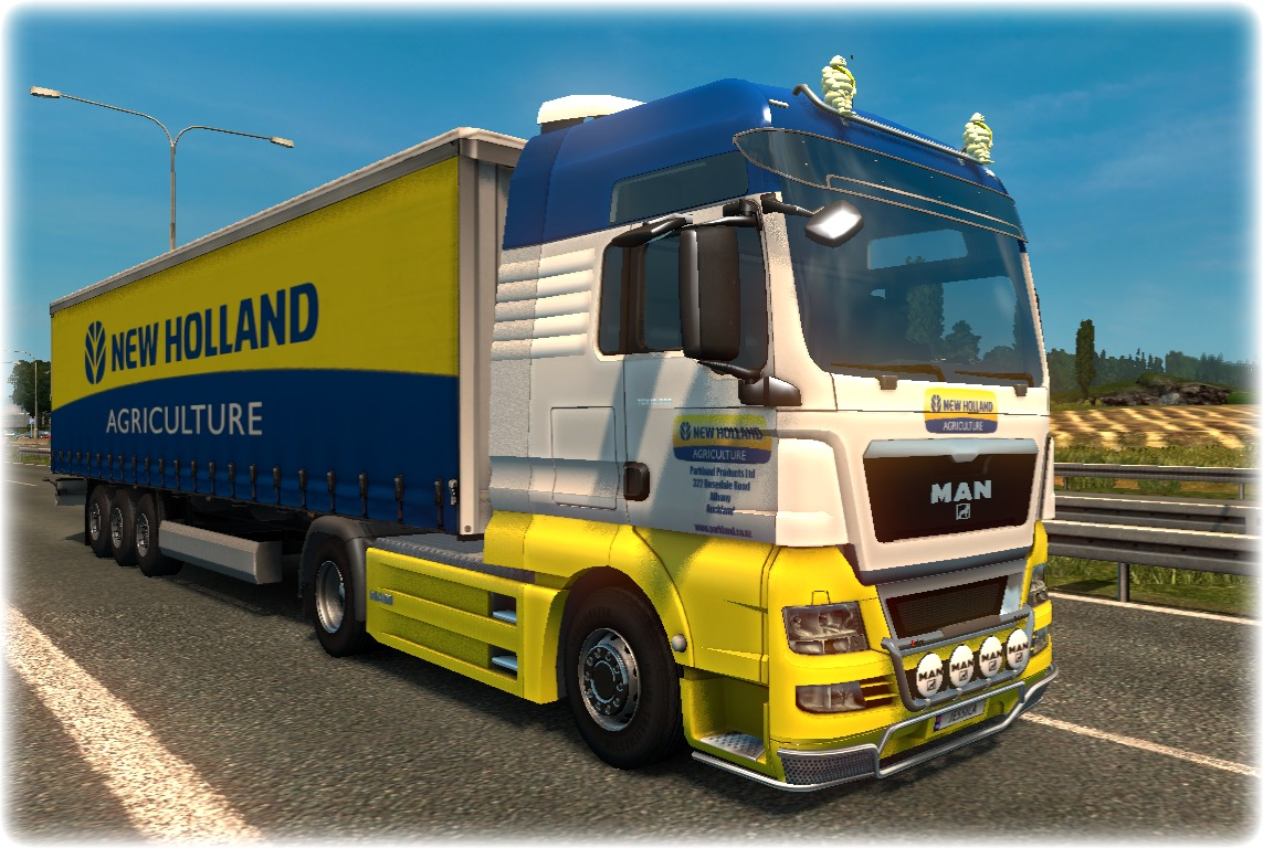 """New Holland"" MAN TGX Skin Combo"