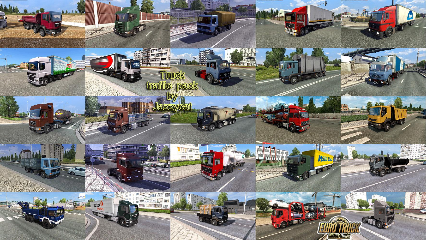 Truck Traffic Pack v2.3 by Jazzycat