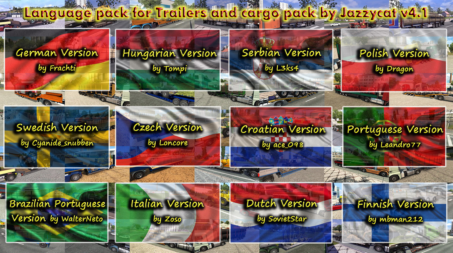 Language Pack for Trailers and Cargo Pack v4.1 by Jazzycat  (Update2)
