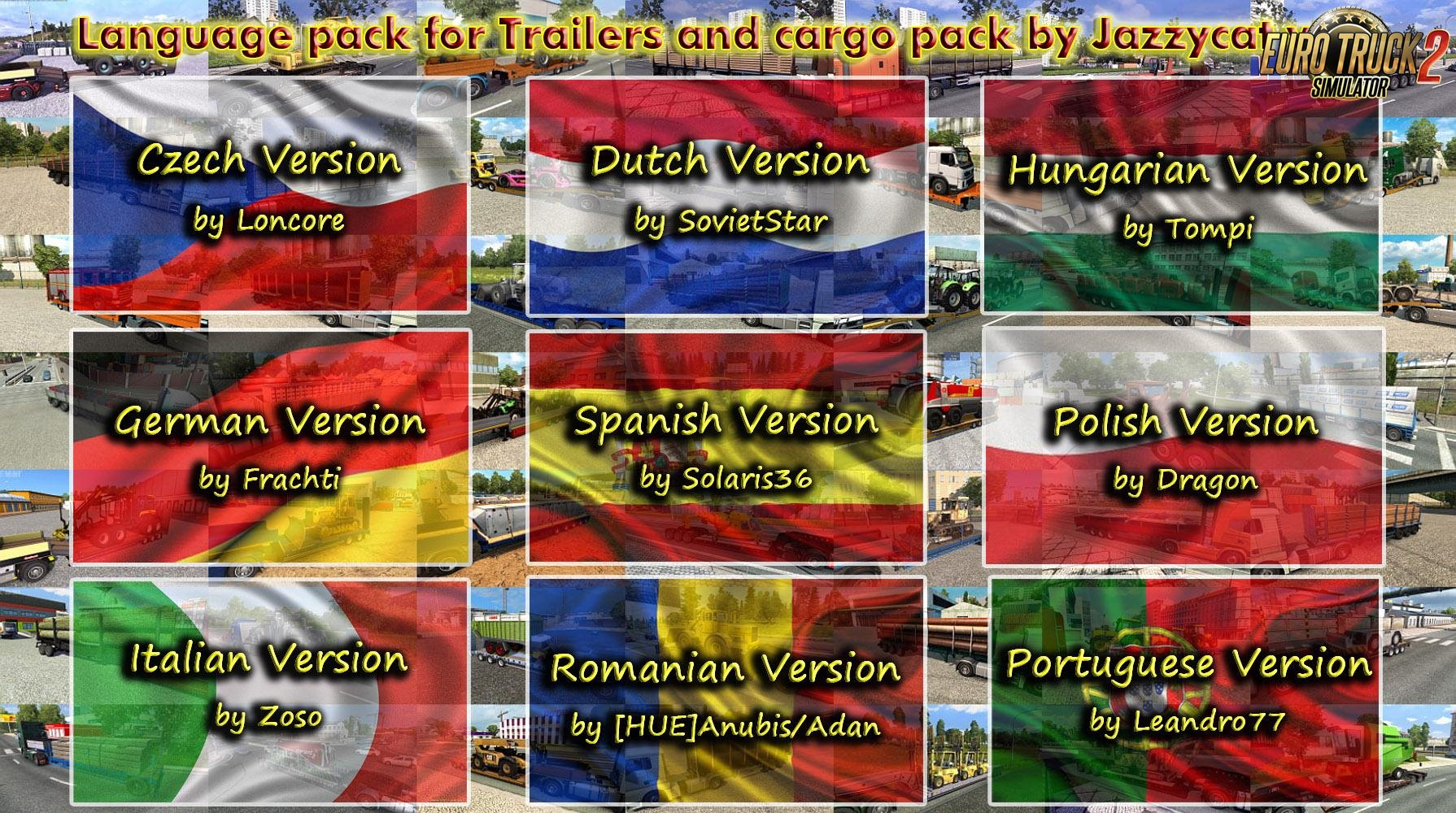 Language Pack for Trailers and Cargo Pack (Update) v4.2 by Jazzycat