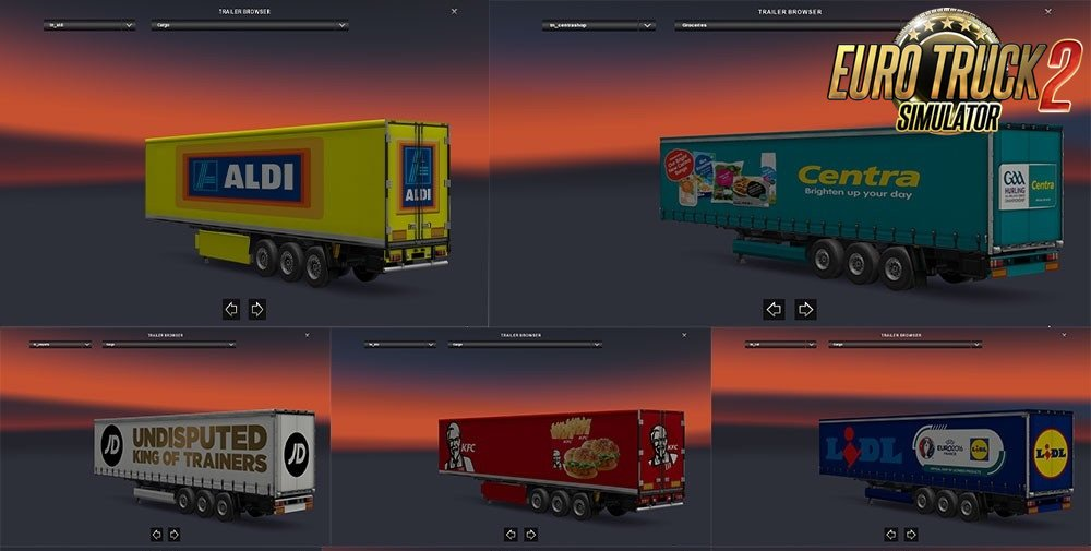 Trailers Pack v1.24 by Kacperth