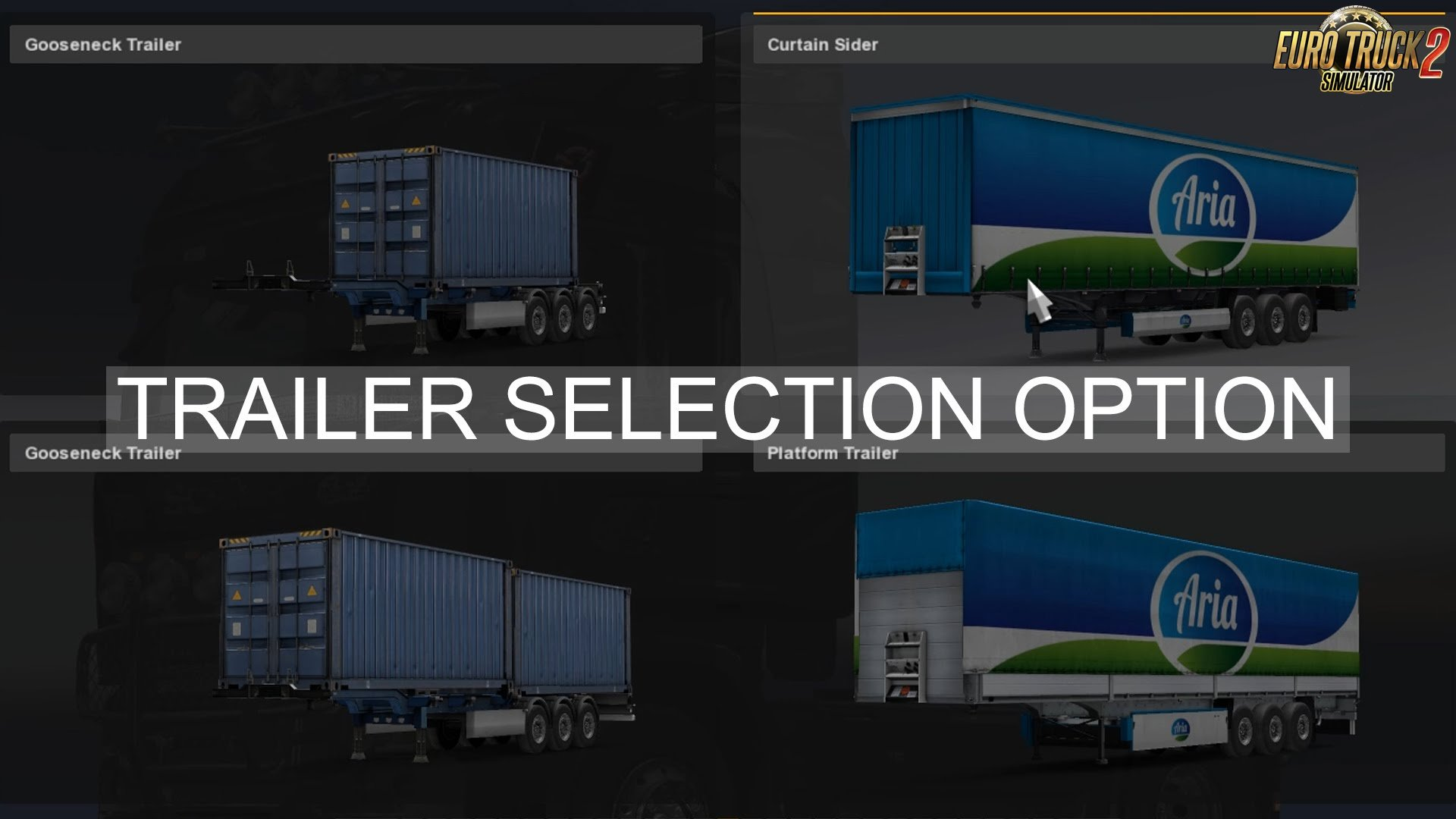 New trailer selection in ETS 2