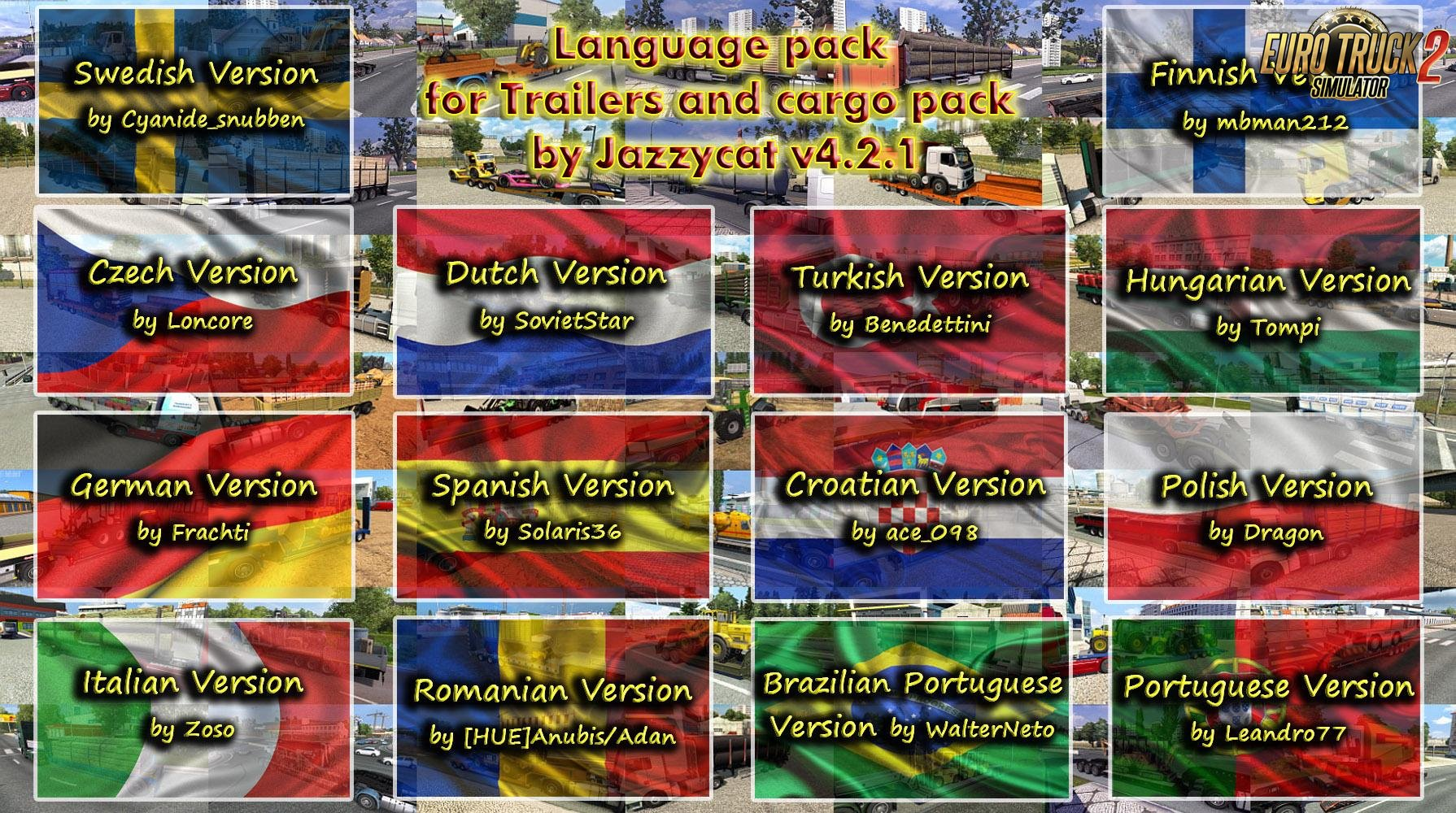 Language Pack for Trailers and cargo pack v4.2.1 by Jazzycat