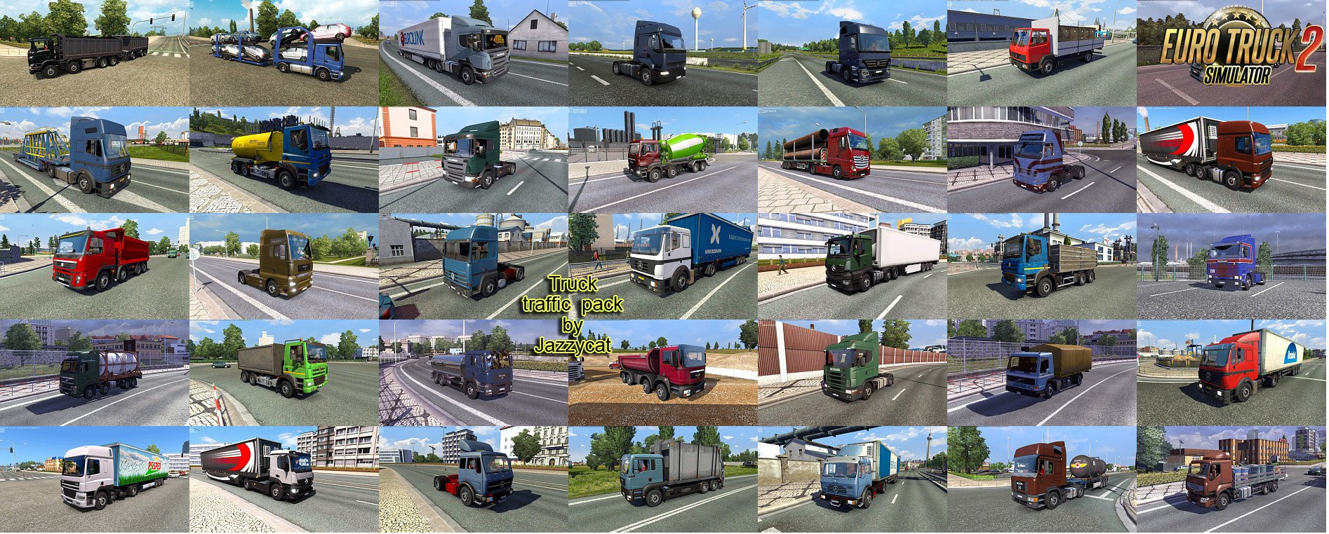 Truck Traffic Pack v2.3.1 by Jazzycat [1.25.x]
